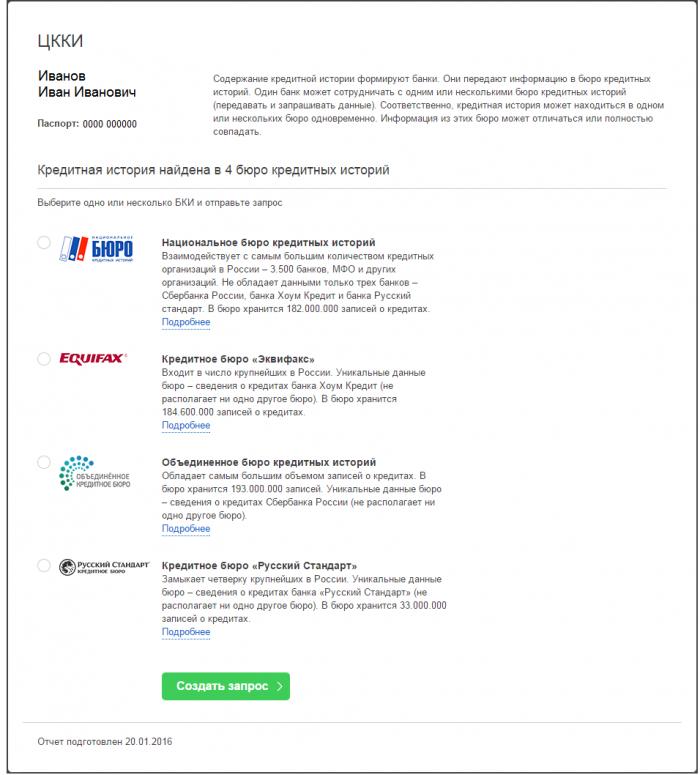 Центральный каталог кредитных историй (ЦККИ)