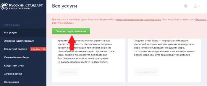 русский стандарт банк кредитная история